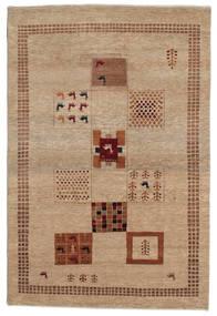 Gabbeh Loribaft Matto 150X224 Moderni Käsinsolmittu Vaaleanruskea (Villa, Intia)