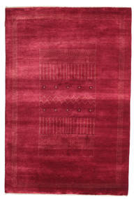 Gabbeh Loribaft Rug 146X222 Authentic  Modern Handknotted Crimson Red/Dark Red (Wool, India)