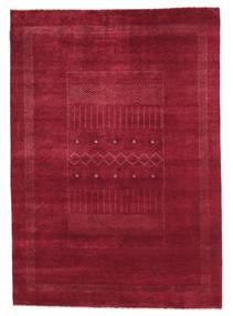 Gabbeh Loribaft Matta 152X215 Äkta Modern Handknuten Mörkröd/Röd (Ull, Indien)