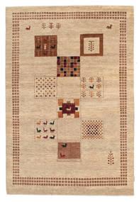 ギャッベ Loribaft 絨毯 150X221 モダン 手織り 暗めのベージュ色の/薄茶色 (ウール, インド)