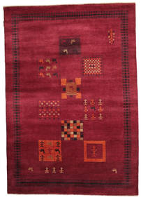 Gabbeh Loribaft Rug 150X216 Authentic  Modern Handknotted Dark Red/Crimson Red (Wool, India)
