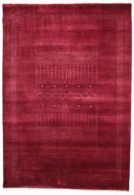 Gabbeh Loribaft Matto 150X216 Moderni Käsinsolmittu Punainen/Tummanpunainen (Villa, Intia)