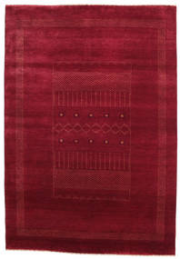 Gabbeh Loribaft Rug 151X219 Authentic  Modern Handknotted Dark Red/Crimson Red (Wool, India)