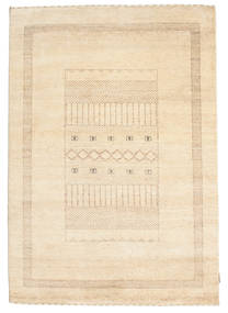 Gabbeh Loribaft Tapis 142X202 Moderne Fait Main Beige/Jaune (Laine, Inde)