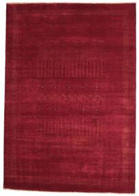 Gabbeh Loribaft Matto 150X216 Moderni Käsinsolmittu Tummanpunainen/Punainen (Villa, Intia)