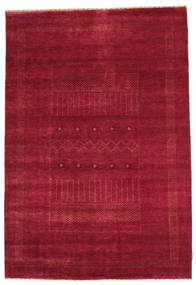 Gabbeh Loribaft Rug 148X218 Authentic  Modern Handknotted Crimson Red/Dark Red (Wool, India)