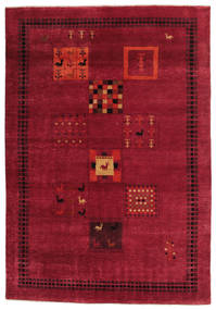 Gabbeh Loribaft Matta 152X221 Äkta Modern Handknuten Röd/Mörkröd (Ull, Indien)