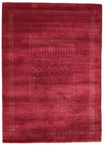 Gabbeh Loribaft Rug 151X214 Authentic  Modern Handknotted Crimson Red/Dark Red (Wool, India)