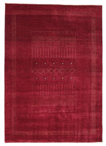 Gabbeh Loribaft Rug 150X223 Authentic  Modern Handknotted Dark Red/Crimson Red (Wool, India)
