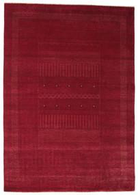 Gabbeh Loribaft Rug 196X280 Authentic  Modern Handknotted Dark Red/Crimson Red (Wool, India)