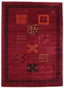 Gabbeh Loribaft Rug 202X282 Authentic  Modern Handknotted Dark Red/Crimson Red (Wool, India)
