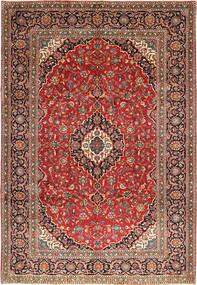 Keshan Rug 243X355 Authentic  Oriental Handknotted Dark Red/Rust Red (Wool, Persia/Iran)