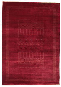 Gabbeh Loribaft Rug 156X221 Authentic  Modern Handknotted Dark Red/Crimson Red (Wool, India)