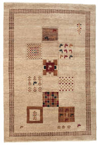 Gabbeh Loribaft Rug 155X225 Authentic  Modern Handknotted Light Brown/Dark Beige (Wool, India)