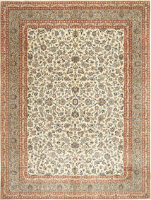 Kashmar Patina Rug 297X393 Authentic  Oriental Handknotted Dark Beige/Light Brown Large (Wool, Persia/Iran)