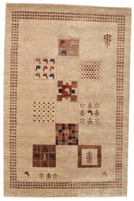 Gabbeh Loribaft Rug 149X228 Authentic  Modern Handknotted Light Brown/Dark Beige (Wool, India)