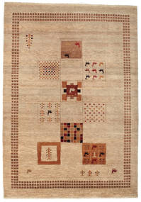 Gabbeh Loribaft Rug 153X220 Authentic  Modern Handknotted Light Brown/Dark Beige (Wool, India)