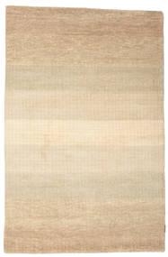 Gabbeh Loribaft Matto 134X205 Moderni Käsinsolmittu Tummanbeige/Vaaleanruskea/Beige (Villa, Intia)