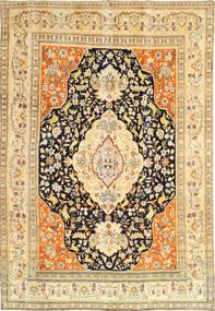 Tabriz Patina Tabatabai Teppe 190X275 Ekte Orientalsk Håndknyttet Lysbrun/Mørk Beige (Ull, Persia/Iran)