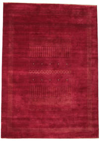 Gabbeh Loribaft Rug 197X277 Authentic  Modern Handknotted Crimson Red/Dark Red (Wool, India)