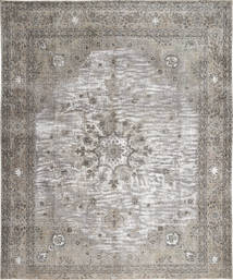 Colored Vintage Rug 297X360 Authentic  Modern Handknotted Light Grey/Dark Grey Large (Wool, Persia/Iran)