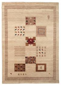 Gabbeh Loribaft Matto 198X285 Moderni Käsinsolmittu Tummanbeige/Vaaleanruskea (Villa, Intia)