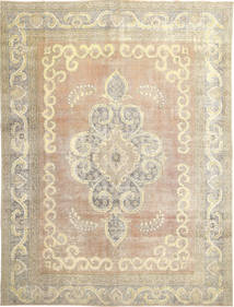 Colored Vintage Rug 298X385 Authentic  Modern Handknotted Light Brown/Beige Large (Wool, Persia/Iran)