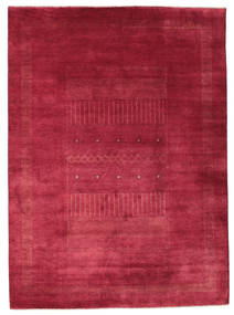 Gabbeh Loribaft Rug 203X278 Authentic  Modern Handknotted Crimson Red/Dark Red (Wool, India)