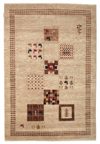 Gabbeh Loribaft Rug 151X223 Authentic  Modern Handknotted Light Brown/Dark Beige (Wool, India)