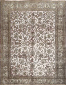 Colored Vintage Rug 287X380 Authentic  Modern Handknotted Light Brown/White/Creme Large (Wool, Persia/Iran)