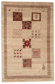ギャッベ Loribaft 絨毯 145X225 モダン 手織り ベージュ/暗めのベージュ色の (ウール, インド)