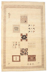 Gabbeh Loribaft Rug 147X228 Authentic  Modern Handknotted Beige/Yellow (Wool, India)