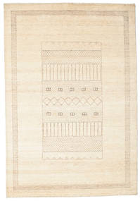 Gabbeh Loribaft Rug 151X220 Authentic  Modern Handknotted Beige/Yellow (Wool, India)