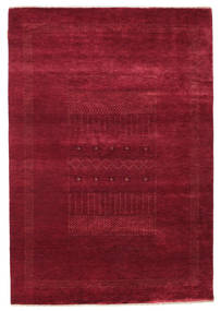 Gabbeh Loribaft Rug 147X213 Authentic  Modern Handknotted Dark Red (Wool, India)
