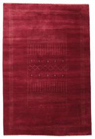 Gabbeh Loribaft Matta 146X222 Äkta Modern Handknuten Mörkröd/Röd (Ull, Indien)