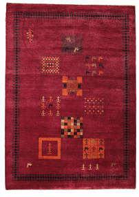 Gabbeh Loribaft Rug 152X218 Authentic Modern Handknotted Dark Red/Crimson Red (Wool, India)