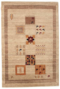 Gabbeh Loribaft Rug 152X226 Authentic  Modern Handknotted Light Brown/Dark Beige (Wool, India)
