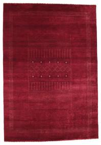 Gabbeh Loribaft Matta 146X215 Äkta Modern Handknuten Mörkröd/Röd (Ull, Indien)