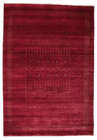 Gabbeh Loribaft Rug 153X220 Authentic  Modern Handknotted Dark Red/Crimson Red (Wool, India)