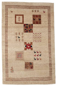 Gabbeh Loribaft Rug 151X237 Authentic  Modern Handknotted Light Brown/Light Pink (Wool, India)