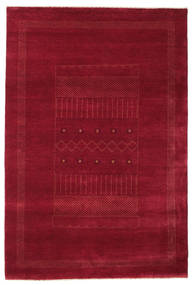 Gabbeh Loribaft Rug 150X225 Authentic  Modern Handknotted Dark Red/Crimson Red (Wool, India)