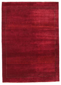 Gabbeh Loribaft Rug 145X205 Authentic  Modern Handknotted Crimson Red/Dark Red (Wool, India)