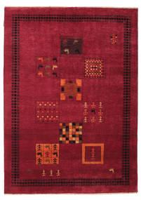 Gabbeh Loribaft Rug 154X214 Authentic  Modern Handknotted Dark Red/Crimson Red (Wool, India)