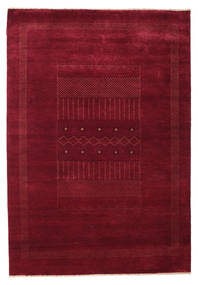 Gabbeh Loribaft Rug 153X221 Authentic  Modern Handknotted Dark Red (Wool, India)