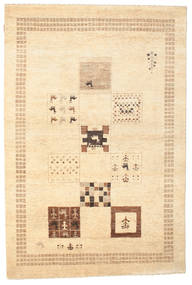Gabbeh Loribaft Matto 145X218 Moderni Käsinsolmittu Beige/Tummanbeige (Villa, Intia)