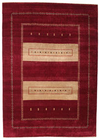 Gabbeh Loribaft Rug 195X275 Authentic  Modern Handknotted Dark Red/Light Brown (Wool, India)