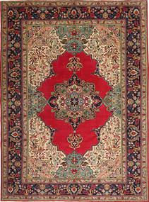 Tabriz Patina Rug 264X355 Authentic  Oriental Handknotted Dark Brown/Dark Red Large (Wool, Persia/Iran)
