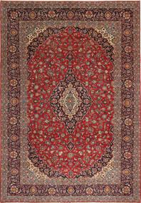 Keshan Patina Matta 275X405 Äkta Orientalisk Handknuten Mörkröd/Brun Stor (Ull, Persien/Iran)
