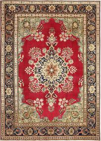 Tabriz Patina Matto 240X337 Itämainen Käsinsolmittu Ruskea/Tummanruskea (Villa, Persia/Iran)