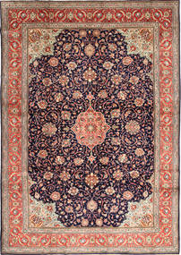 Sarouk Rug 278X393 Authentic  Oriental Handknotted Light Brown/Dark Purple Large (Wool, Persia/Iran)
